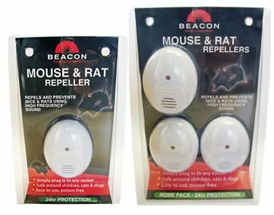 Rentokil Beacon Mouse & Rat Repeller-Rodent Plug-In 24hr Protection Repels Ideal
