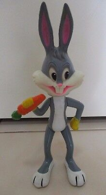 Bugs Bunny Large Plastic Movable Figurine - Warner Brothers Looney Tunes - 1971