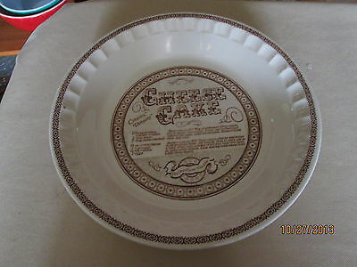 Vintage 11 inch Cheese Cake Pie Plate Royal China Jeannette Corp ( # 8 ) & VINTAGE 11 inch Cheese Cake Pie Plate Royal China Jeannette Corp ...