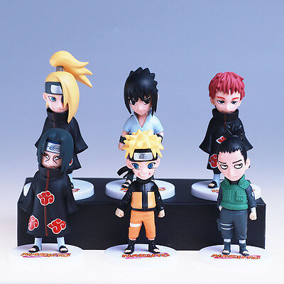 naruto 6pcs set N02 pvc figure doll collection 3D model figures ANIME toy NEW