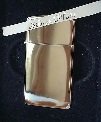 Zippo Lighter Silver Plated Slim Line RARE NEW IN BOX MNT 1997 GIFT vintage