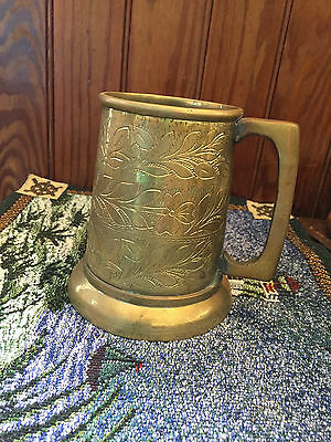 SALE-Was 19.99 Now 15.99 Vintage Solid Brass Stein Shaped Beer Cup Mug Tankard