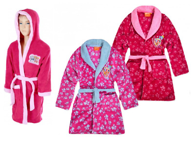 Official Paw Patrol Nickelodeon Girls Fleece Dressing Gown Pink  Age 3 - 8