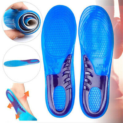 Work Boots Orthotic Foot Arch Heel Support Shoe Massaging Gel Insoles Inserts Uk
