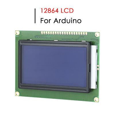 ST7920 12864 128x64 LCD Adapter LCM Display Module Graphic Blue Screen Backlight
