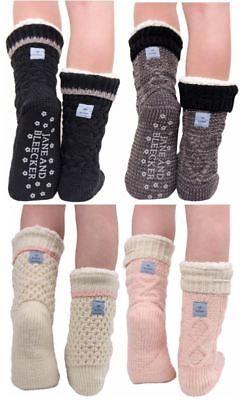 NEW - Jane and Bleecker 2 Pair Slipper Socks Size 9-11, Shoes Size 4-10