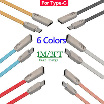 3FT Fast Charging Type C USB Adapter Data Sync Charger Cable Cord For Samsung