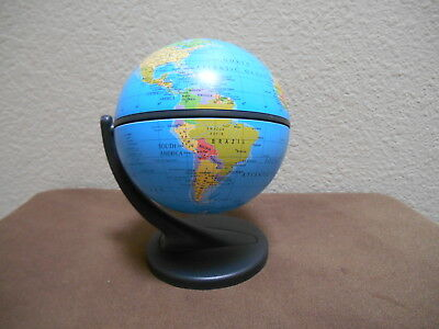 "Swivel & Tilt Desk Globe 6"" Tall Rotates Full Color Earth Blue Ocean Tabletop"
