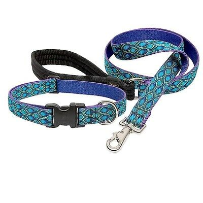 "NEW Rain Song Blue Purple Dog Collar or Leash in 1"", 3/4"" or 1/2"" by Lupine Pet"