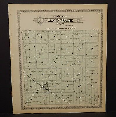 Minnesota Nobles County Map Grand Prairie Township 1914  L15#39