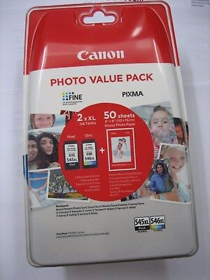 ORIGINAL Multipack black color CANON PG-545 XL + CL-546 XL +  Photo Papier