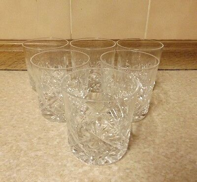 6 Crystal Whisky Tumblers