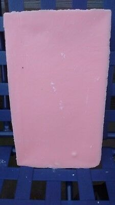 10kg PINK paraffin candle making wax.FREE wick,sustainers and instructions.