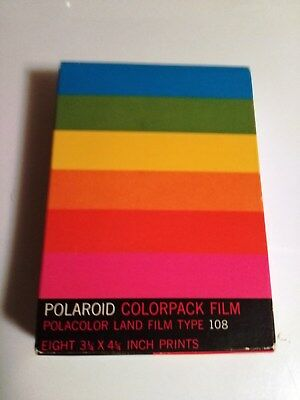 Polaroid Colorpack Film Land Type 108 Unopened Exp 8/72