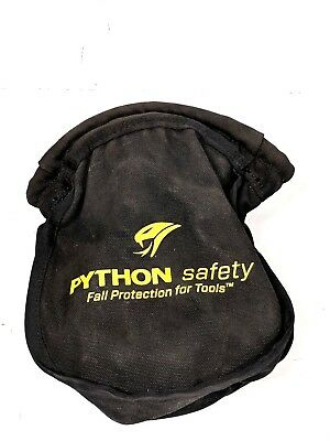 Python® Canvas Black  Small Parts Pouch - self-closure system -Free Shipping