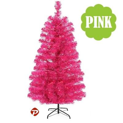 Pink Artificial Christmas Tree.4 5 6 7 Ft Fuchsia Pink Pvc Artificial Christmas Tree Unlit Multiple Size S M L
