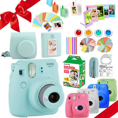 Fujifilm Instax Mini 9 Camera + 20 Fuji Instant Film + Carry Bag + Deluxe Bundle