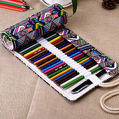 School Pencil Case Escolar Box Lovely Stationery Canvas Pen Roll Up Bags New
