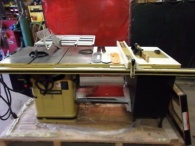 Powermatic 66 Cabinet Table Saw  3 Hp 1 Phase Motor And Router Lift Great Shape