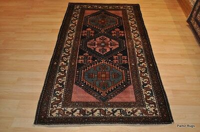 Antique handmade rug 4' X 6'  hand-woven oriental antique rug Persian #PM75