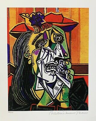 Pablo Picasso WEEPING CRYING WOMAN Estate Signed & Numbered Small Giclee Art