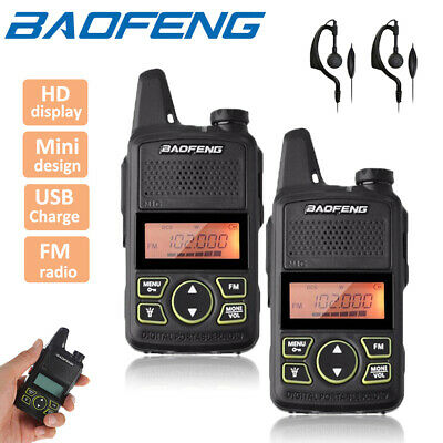 2x Baofeng BF-T1 Two Way Radio UHF 400-470Mhz Walkie Talkie Long Range Earpiece