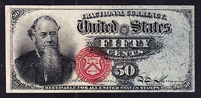 US 50c 4th Issue Fractional Currency FR 1376 Ch CU