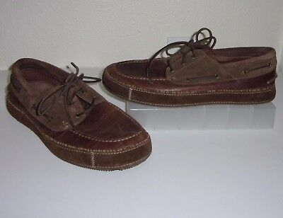 e3f55bbf667ff4 Mens Timberland Brown Leather   Tweed Moccasins Size 12 Shoes Oxfords  Loafers