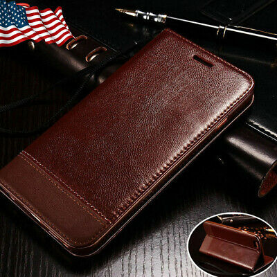 For iPhone 8 7 6s Plus 11 XS MAX X Leather Wallet Card Holder Flip Case Cover US