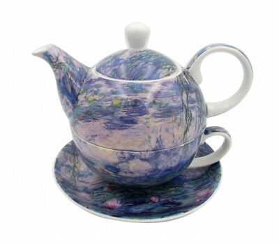 Fine Bone China Ceramic Monet Water Lilies Pattern Teapot Tea For One Xmas Gift
