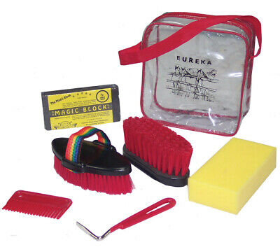 NEW Eureka Horse Pony pet Grooming Kit 6 pieces FREE Carry Bag FREE POSTAGE