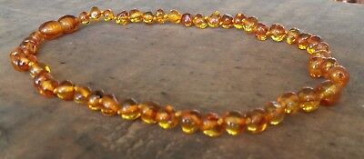 Genuine Baltic Amber Child Necklace - COGNAC - Jewellery Beads FREE POST