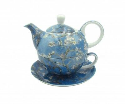 Fine Bone China Van Gogh Almond Blossom Pattern Teapot Tea For One Xmas Gift