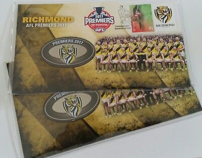 2017 Afl Premier's L.t.d Of Only 2017 Richmond Tigers Consecutive Pair Brand New