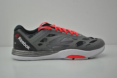 3788e89c2a963 Mens Reebok LM Cardio Ultra Running Shoes Size 8.5 9 10 10.5 Grey White  V66785