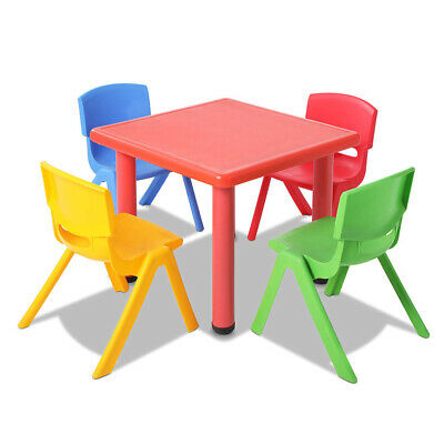 5 Pcs - Kids Table and Chairs Playset - Red