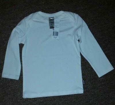 BNWT Baby Bonds White Stretchies Long Sleeve  Top Size 1