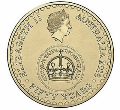 Australian Two Dollar $2 Coin - 2016 - 50 YEAR CHANGEOVER - circulated