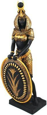 "13"" ANCIENT EGYPTIAN Home Decor LARGE GODDESS ISIS SHIELD DEITY STATUE FIGURINE"