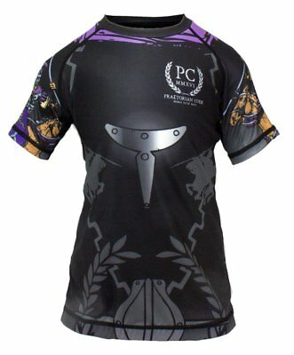 Kids Rash Guard Short Sleeve Horse rider BJJ MMA No-gi