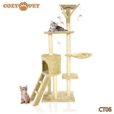 Cozy Pet Deluxe Cat Tree Sisal Scratching Post Quality Cat Trees  CT06-Beige