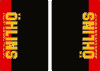 Ohlins Suspension Bike Upper Fork Decal Sticker Graphic Set Adhesive Red 2Pcs