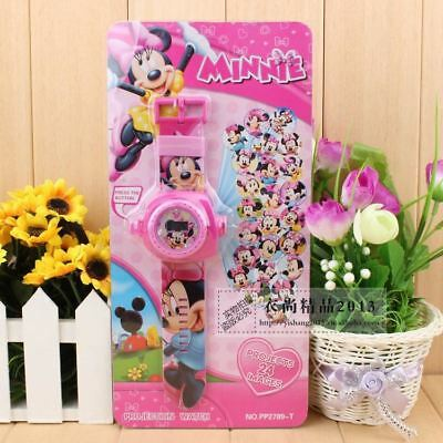 CHILDRENS WATCH Disney Minnie Mouse Projector Watch 24 Images