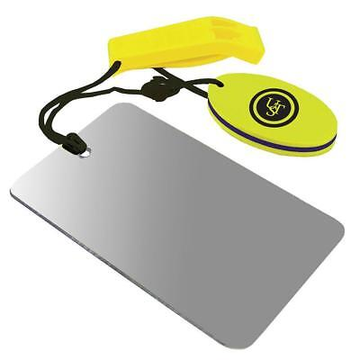 Ust Signalling Mirror And Whistle With Float Bushcraft Survival Kayaking Boating