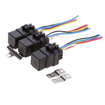 Awe Inspiring 3 Sets 12V 40A Car Boat Electronic 4 Pin Spdt Relays 4 Wire Harness Wiring 101 Photwellnesstrialsorg