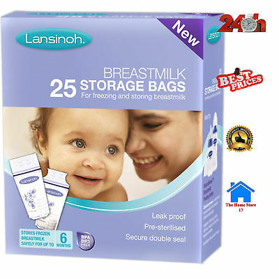 Breast Milk Storage Bag Pouch Mom Breastfeeding Sterilized Freezer 25 Pieces