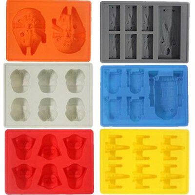 Star Wars Silicone Ice Cube Tray Mold Soap DIY Cookies Chocolate Fondant Molds