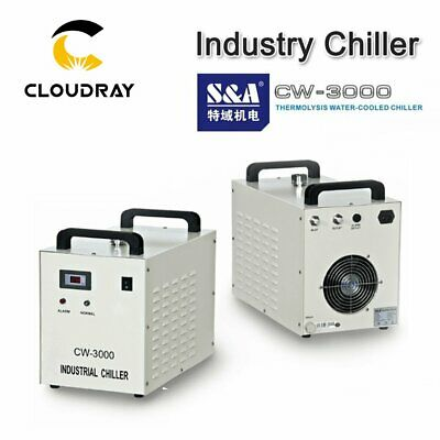 Industrial Laser Water Chiller Cooling CW3000 S&A for 60W 80W Laser Tube 220V