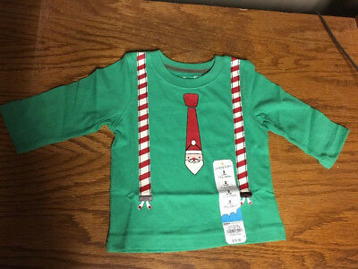 NWT Boys Christms Holiday Long Sleeve Shirt  Sz 3 Mo