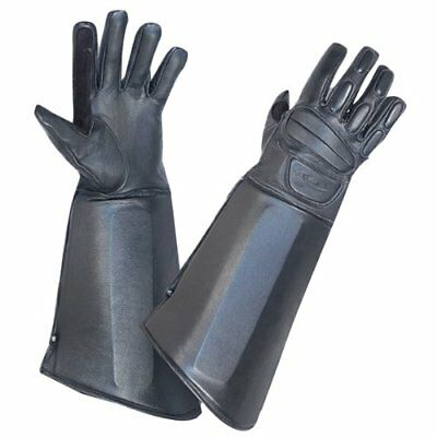 Hatch Dominator RG800 Leather Gauntlet Gloves Riot Police Tactical Swat Size S